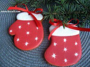 Новогодние пряники. Новогодние имбирные пряники Варежки-носочки