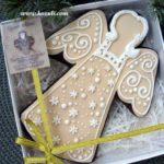 Рождественские пряники. Пряник Рождественский ангел, упаковка