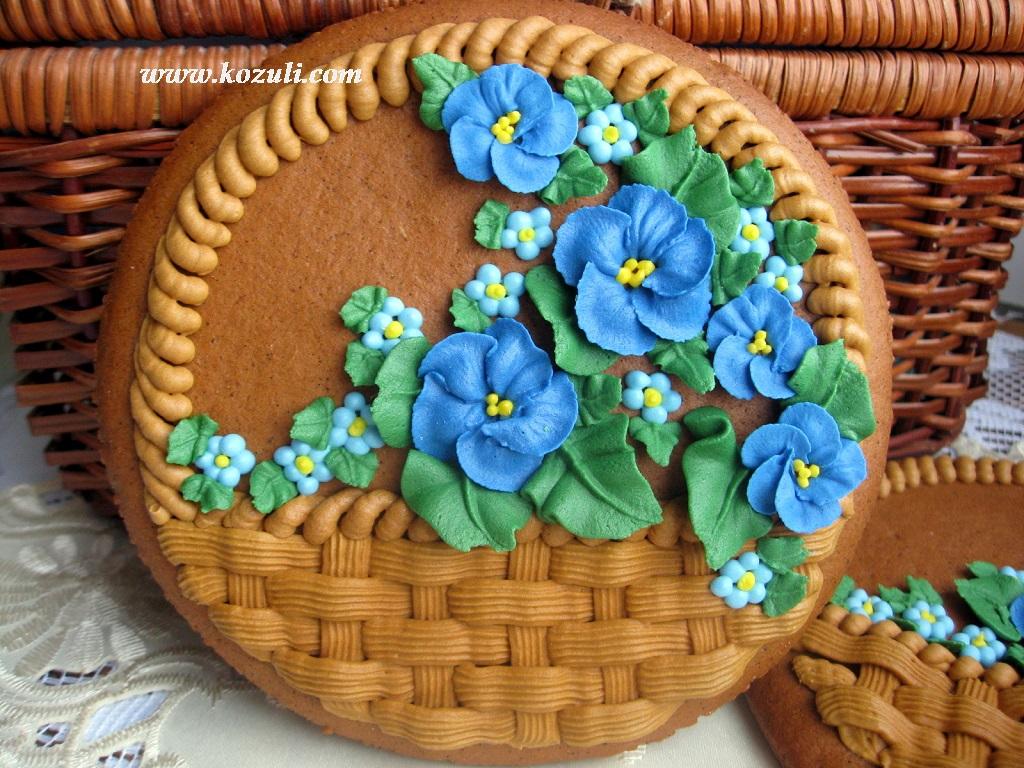 Пряник Корзина с цветами