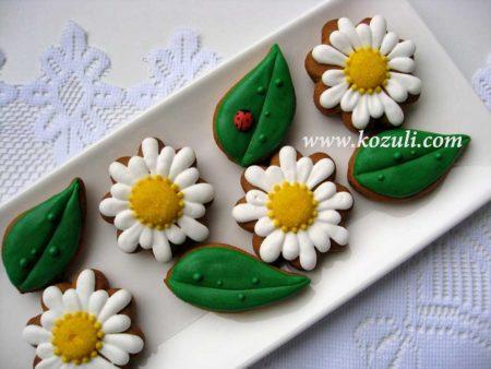 Пряники цветы Ромашки