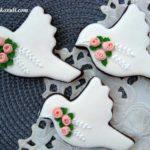 Свадебные пряники - комплимент для гостей Птички свадебные (в цветах свадьбы)