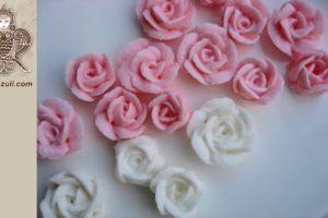 Роза лепестковая из айсинга, видео мастер-класс