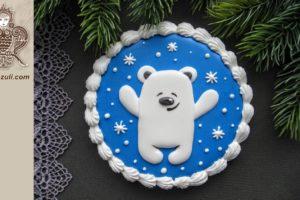 ШАБЛОН для новогоднего пряника Медвежонок