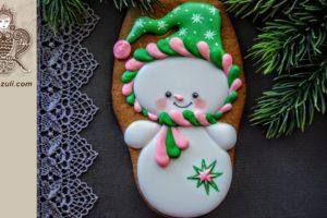 ШАБЛОН для пряника Новогодний Снеговик