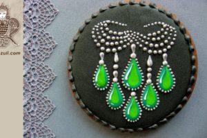 ШАБЛОН для пряника Ожерелье с изумрудами