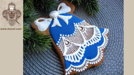 ШАБЛОН для пряника Рождественский колокольчик