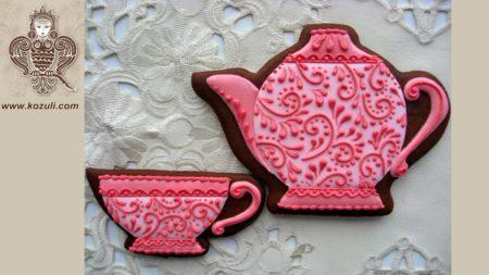 ШАБЛОН для пряников Чайник и чашечка