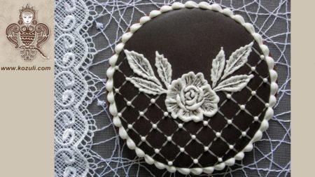 ШАБЛОН для свадебного пряника Черно-белая классика