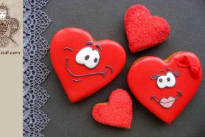Шаблон для пряников на День влюбленных