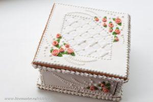 Пряничная шкатулка Свадебная