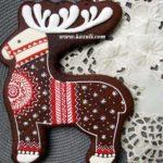 Новогодние и рождественские пряники архангельские козули. Новогоднее печенье. Пряник Рождественский олень