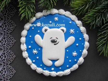 Новогодний пряник Медвежонок. Новогодние имбирные пряники, новогоднее печенье