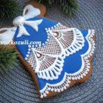 Рождественское печенье Кружевной колокольчик. Новогоднее печенье, новогодние пряники