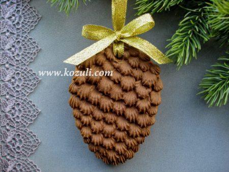 Новогодний пряник Шишка. Новогодние имбирные пряники, новогоднее печенье