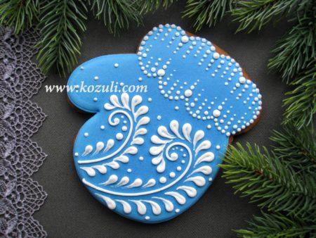 Новогодний пряник Варежка. Новогодние имбирные пряники, новогоднее печенье