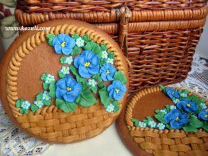 Пряник на 8 марта Корзина с цветами