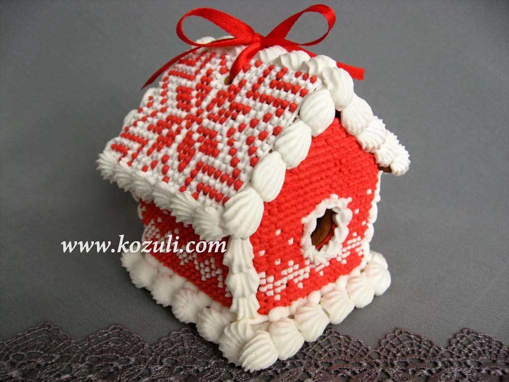 Пряничные домики. Пряничный домик красный