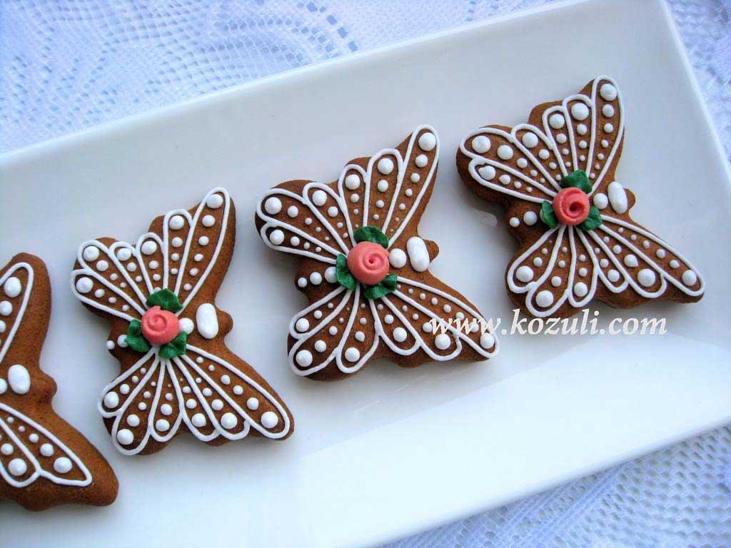 Пряники Ажурные бабочки