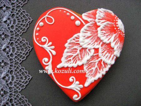 Имбирный пряник Кружевной цветок