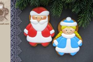 Шаблон для пряников Дед Мороз и Снегурочка